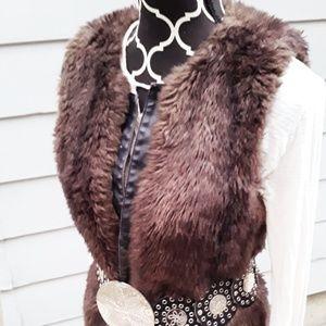 Sanctuary clothing faux fur vest